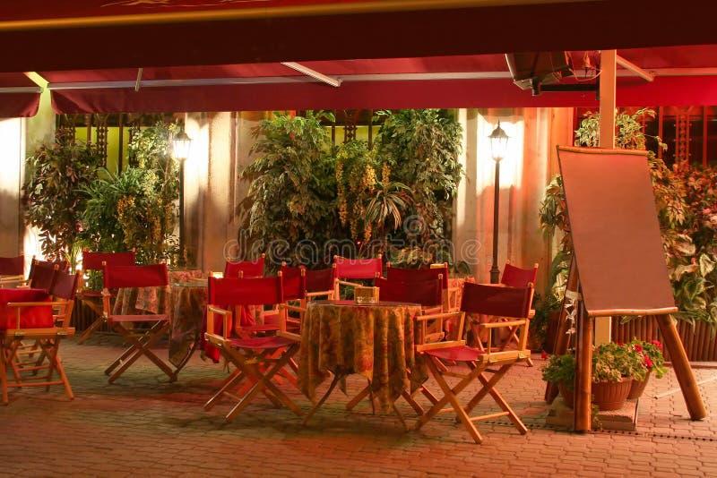 night restaurant στοκ φωτογραφία