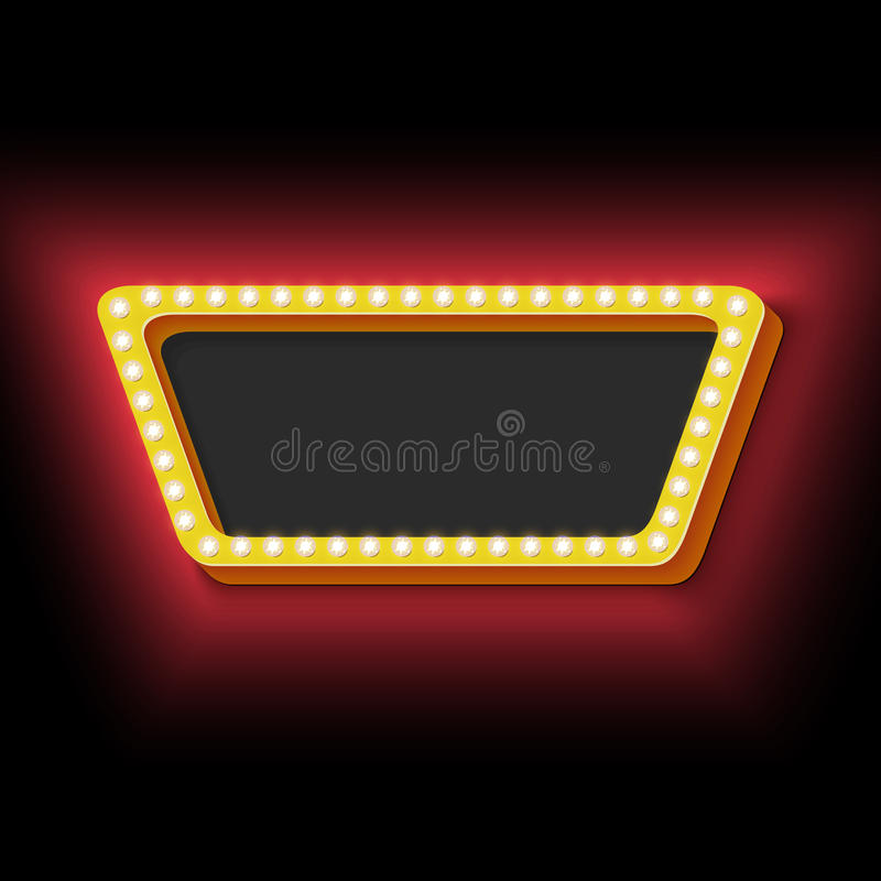 Download Night Retro Background With Lights Stock Vector