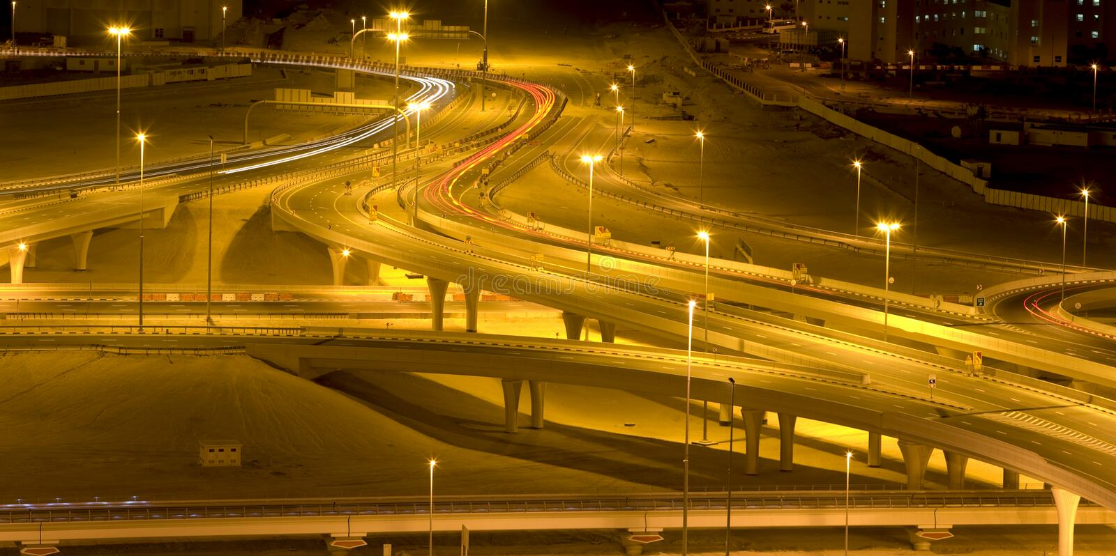 Download Night road stock photo. Image of complexity, gold, destination - 17375234