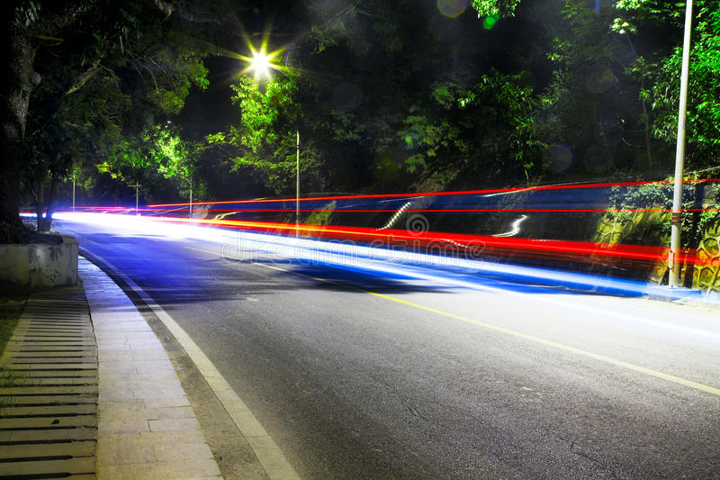 Download Night road stock image. Image of fast, scene, speed, outdoor - 19964071
