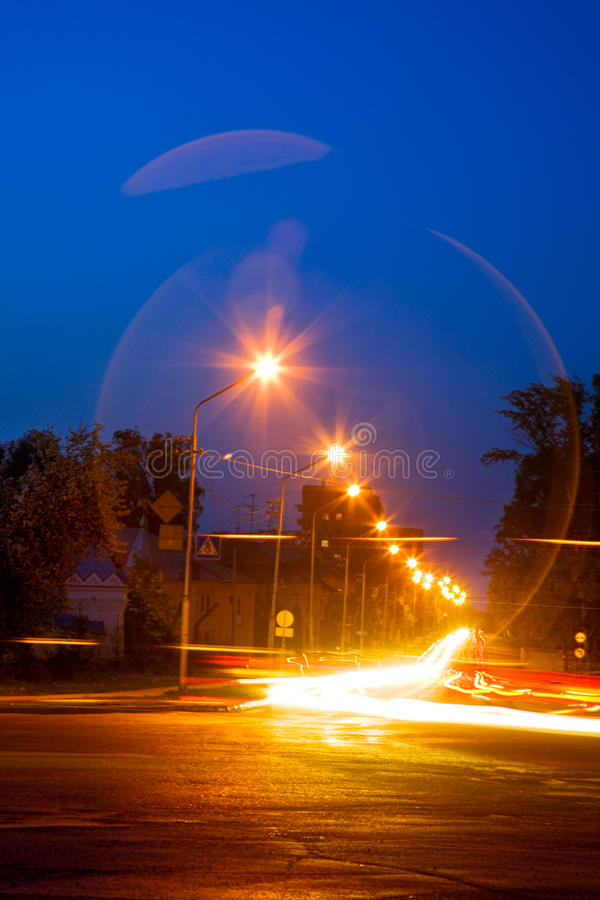 Download Night road stock photo. Image of blur, evening, street - 25349902