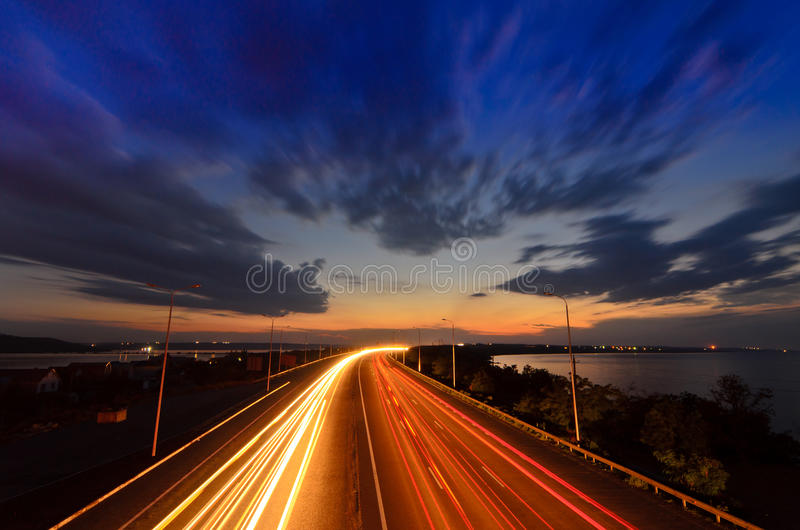 Download Night Road - Highway Royalty Free Stock Photos - Image: 33186548