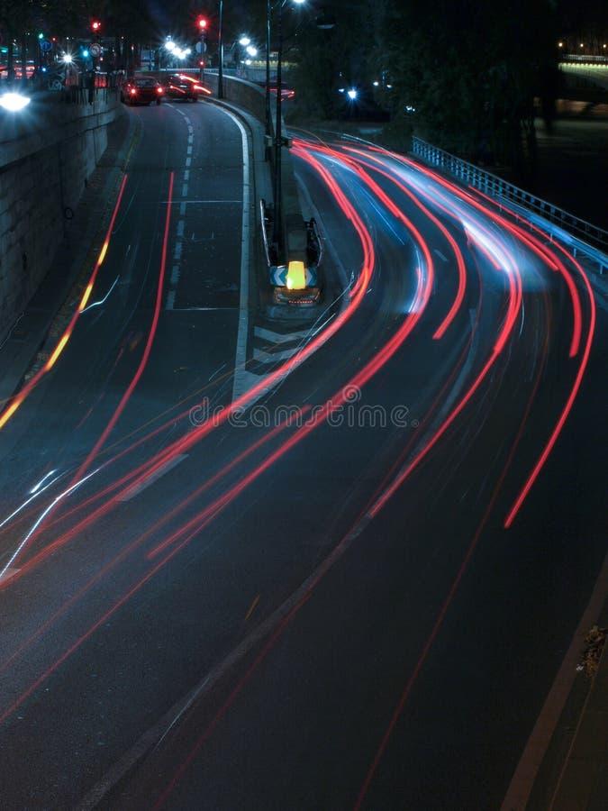 night road traffic στοκ φωτογραφίες