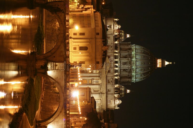 night rome vatican στοκ εικόνες με δικαίωμα ελεύθερης χρήσης