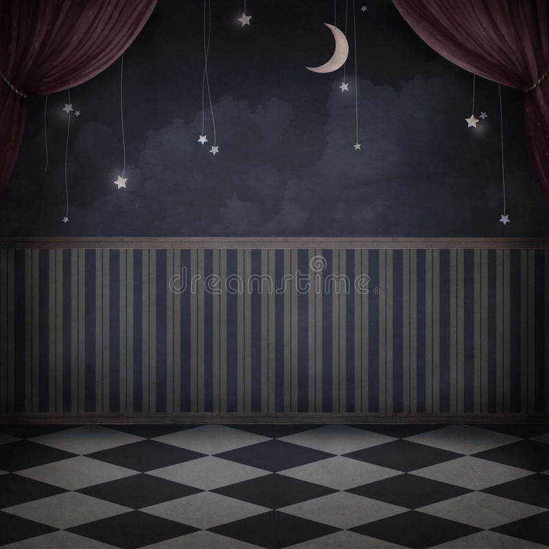 Night room stock illustration