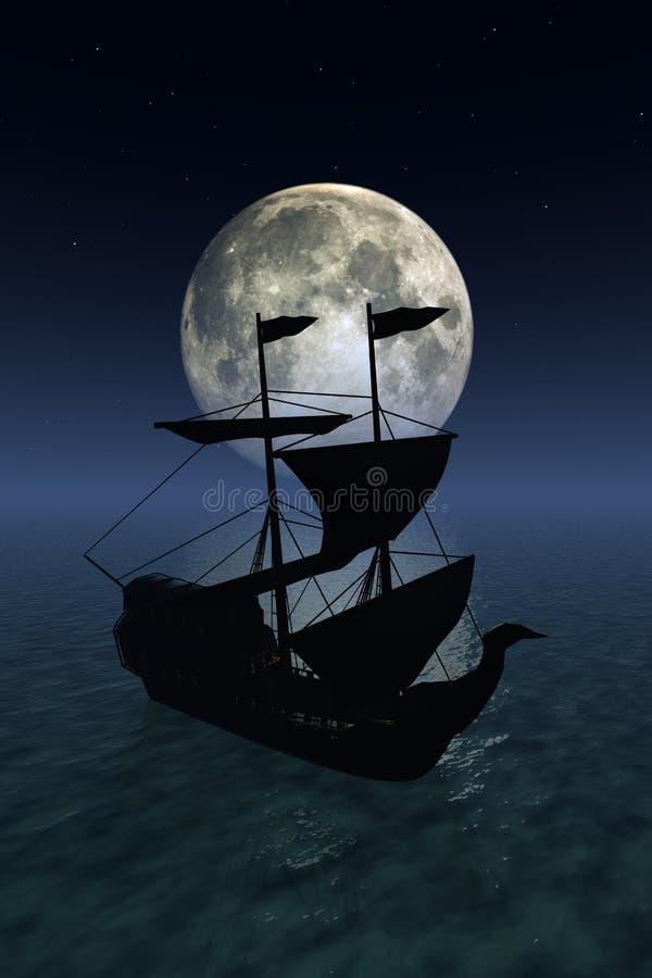 Night sailing royalty free stock images