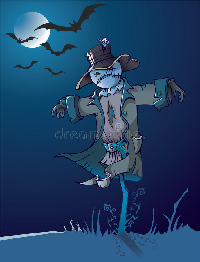 Night Scarecrow Stock Photos