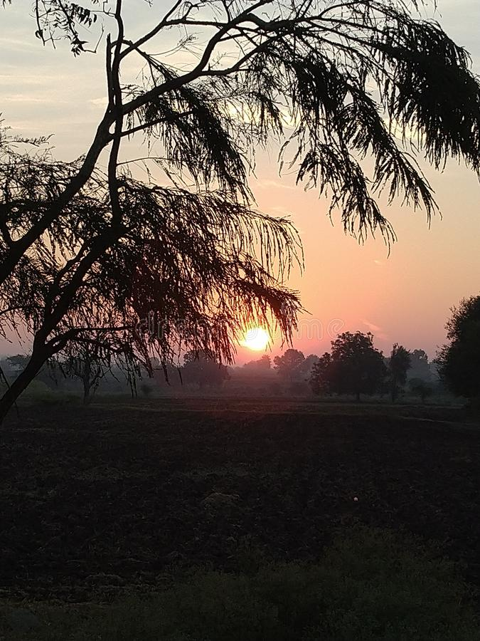 Night scence. Morning sunshine evening royalty free stock photography