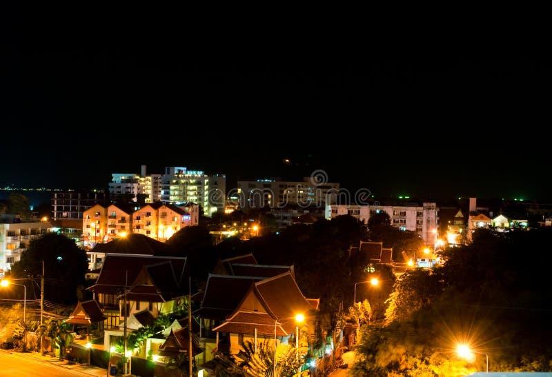 Night scence at Pattaya, Thailand. Image of night scence at Pattaya City in Thailand stock photos
