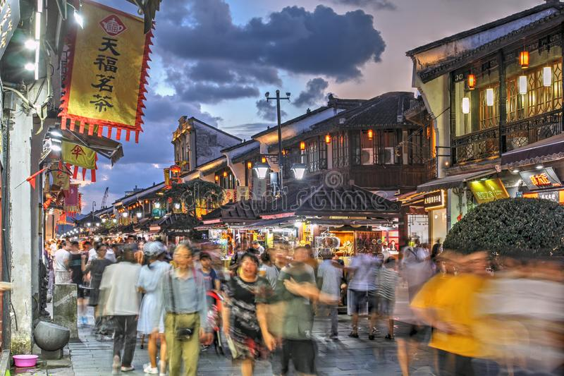 Hefang Street, Hangzhou, China royalty free stock photography