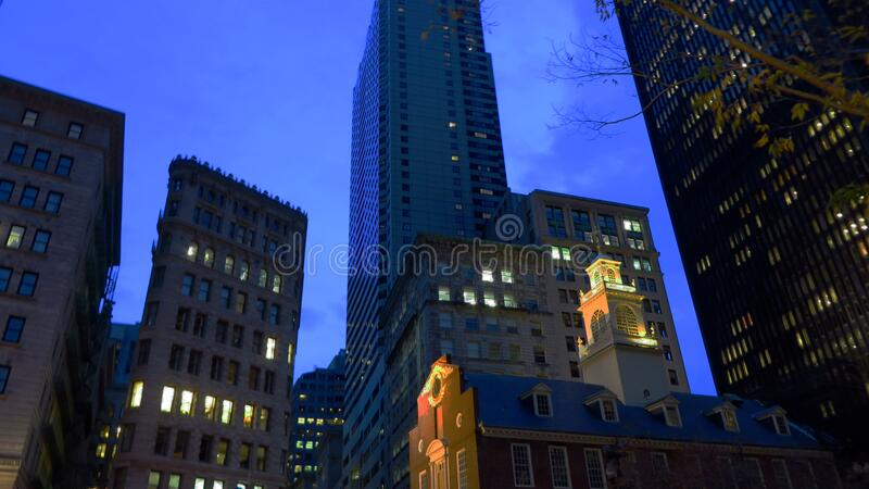 Night Scene in Boston royalty free stock image