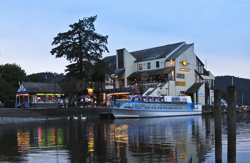 A Night Scene In Bowness-on-Windermere Editorial Stock Image