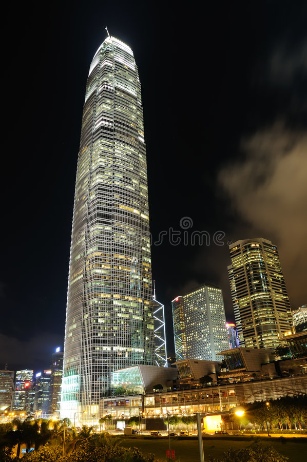 Night scene of business building royalty free stock photos