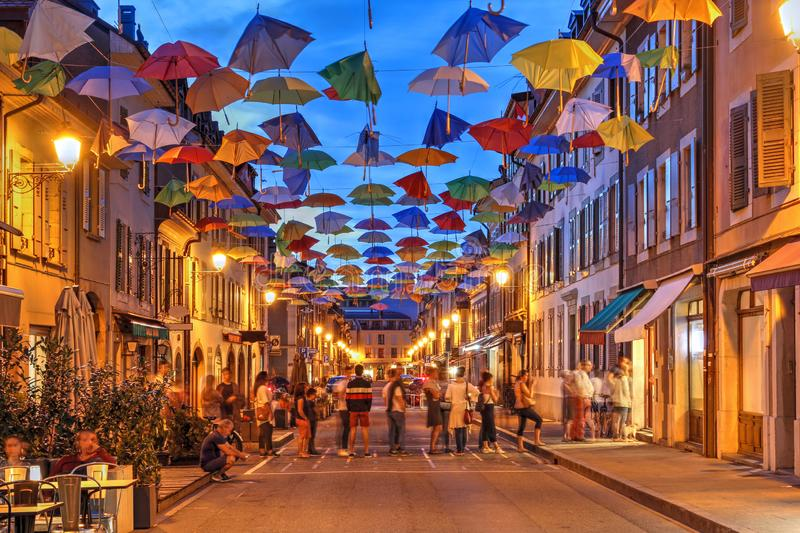 Carouge, Geneva, Switzerland stock photo