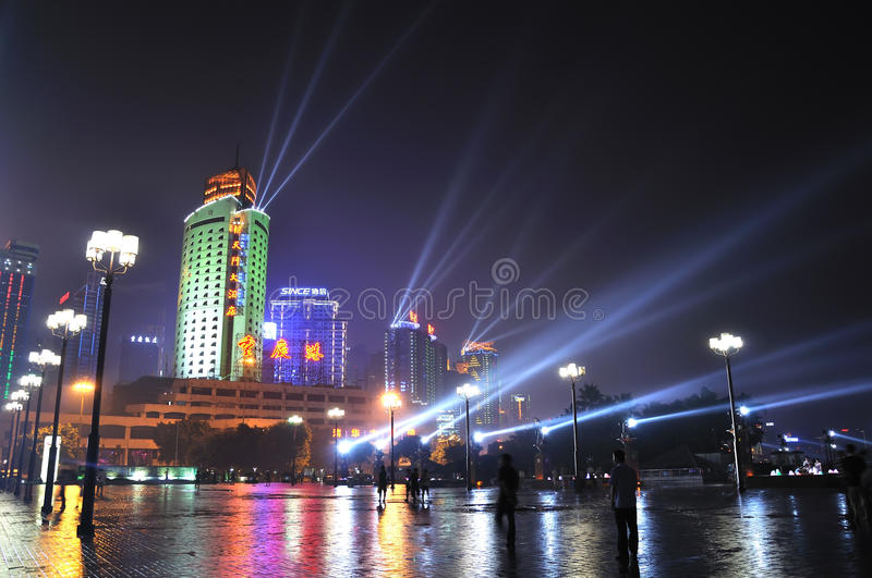 Download Night Scene Of Chongqing Port Editorial Image - Image of jetty, cities: 15393850