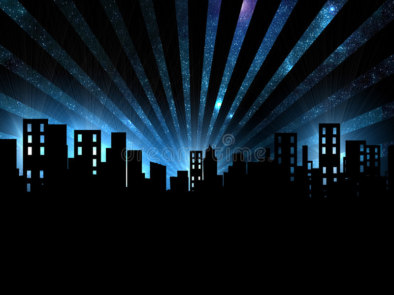 Download Night Scene, City Night View Stock Illustration - Image: 2297648