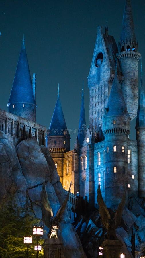 Free Night Scene Close Up Of Hogwarts Castle Royalty Free Stock Photo - 89065535