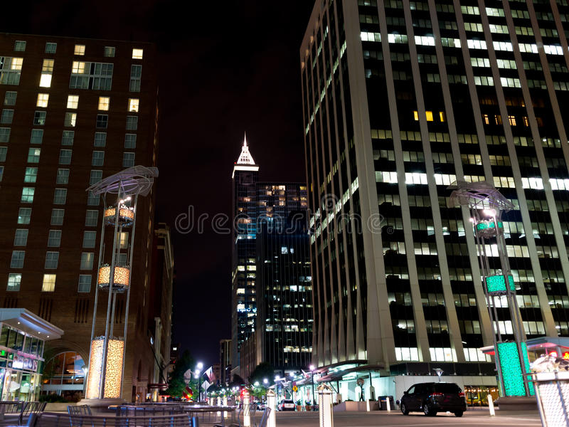 Download Night Scene Of Downtown Raleigh, NC Stock Photo - Image: 33517826