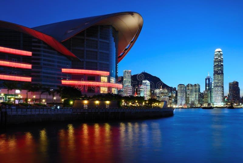 Night scene of Hong Kong stock images