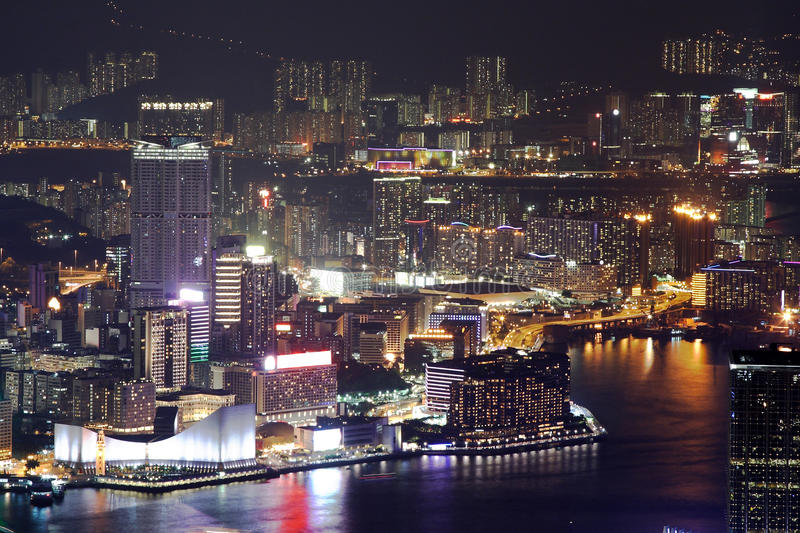 Night Scene Of The Hong Kong Royalty Free Stock Images
