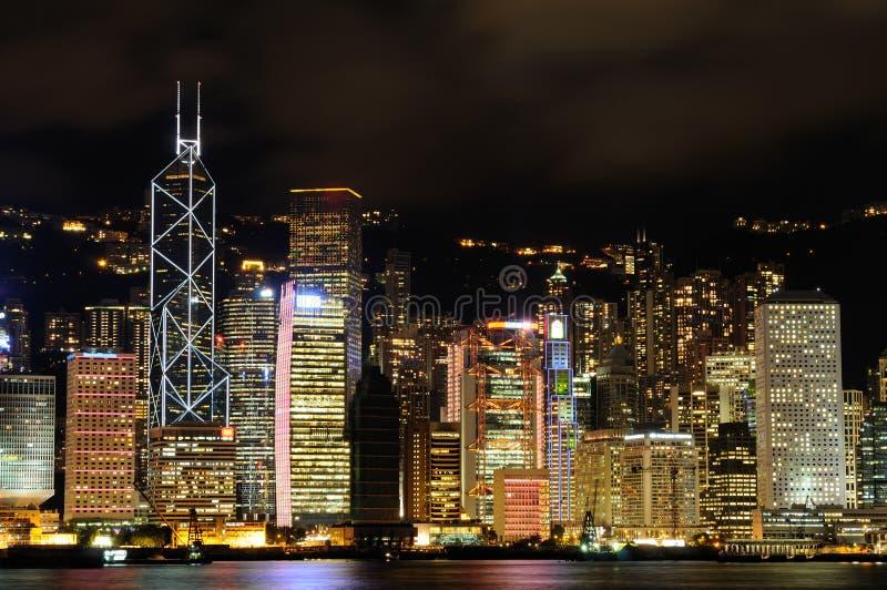 Night Scene Of Hong Kong Cityscape Royalty Free Stock Photo