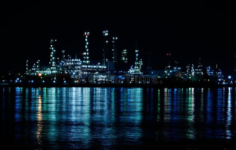 Download Night Scene Of Oil Refinery Stock Photo - Image: 40048106