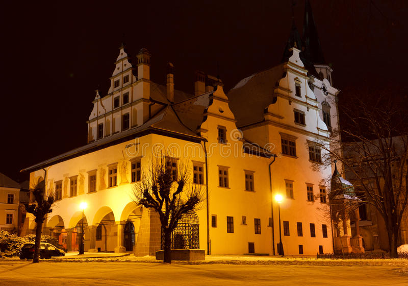 Night scene in old town stock images