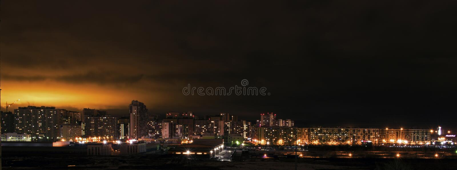 Night scene in outskirts royalty free stock images