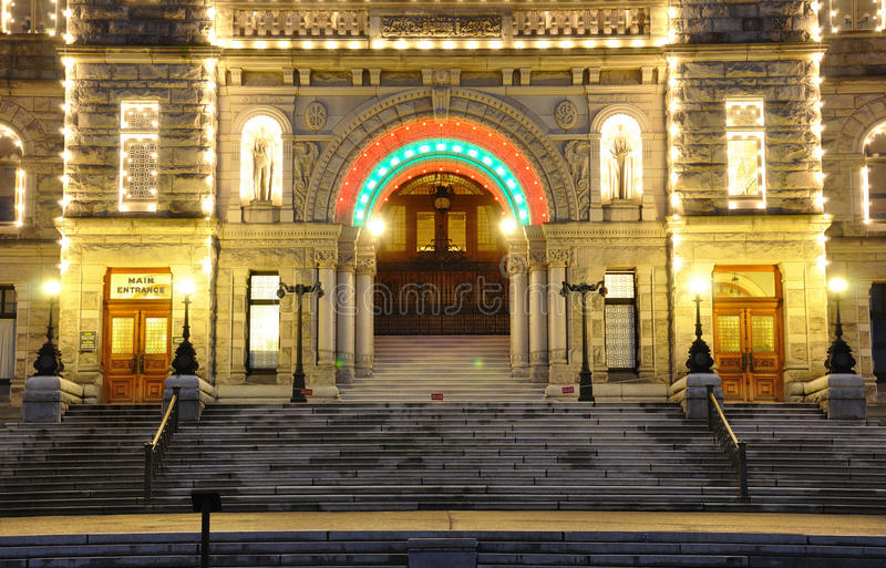 Night scene of the parliament building royalty free stock photography