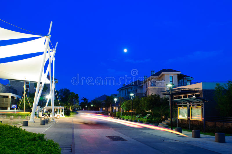 Download Night Scene Of Residential District Stock Image - Image: 24489355