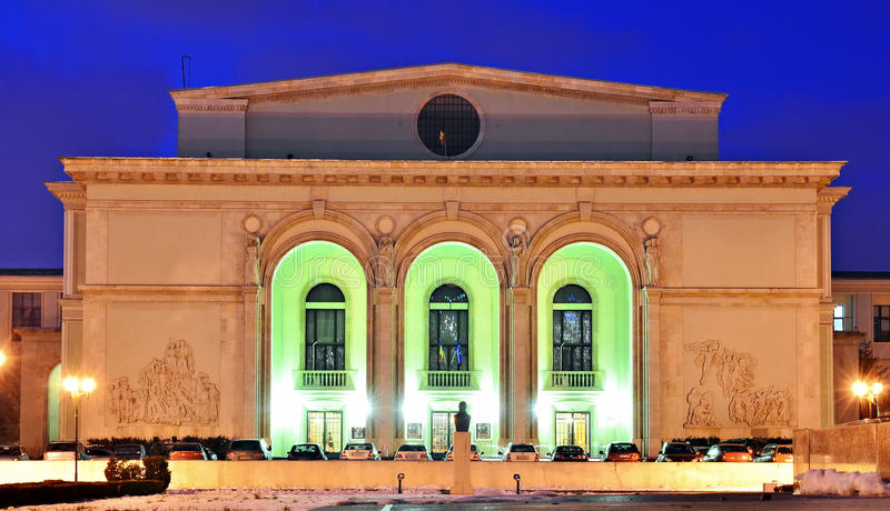 Romanian National Opera night scene royalty free stock images