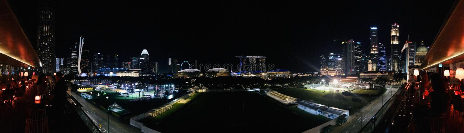 Night Scene Singapore Commercial centre 02 royalty free stock photo