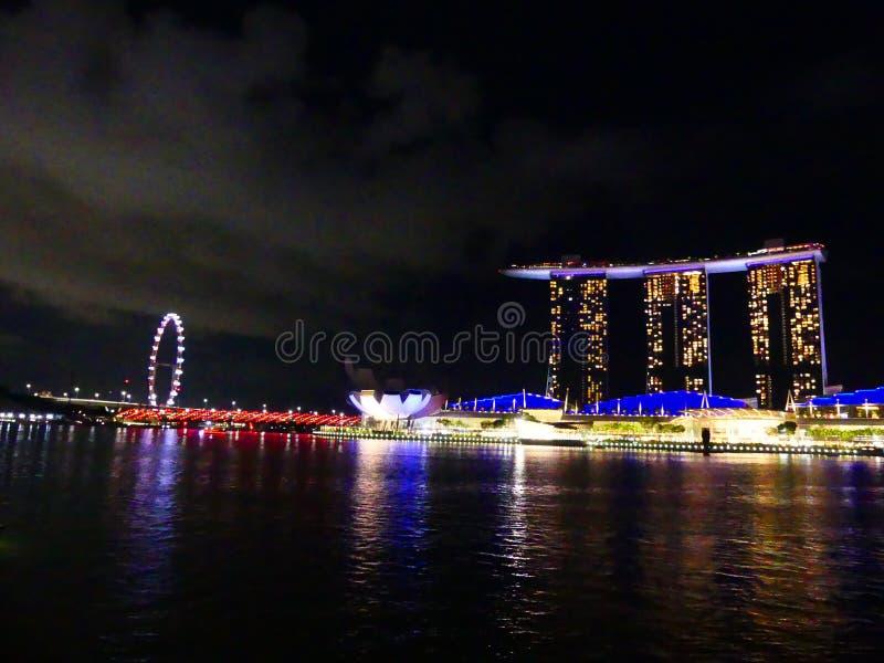 Night scene in Singapore royalty free stock image