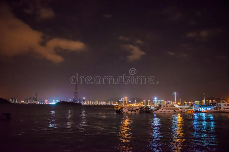 The Night Scene of Xiamen City. Xiamen is a beautiful coastal city. This is the magic night scene of it stock photography