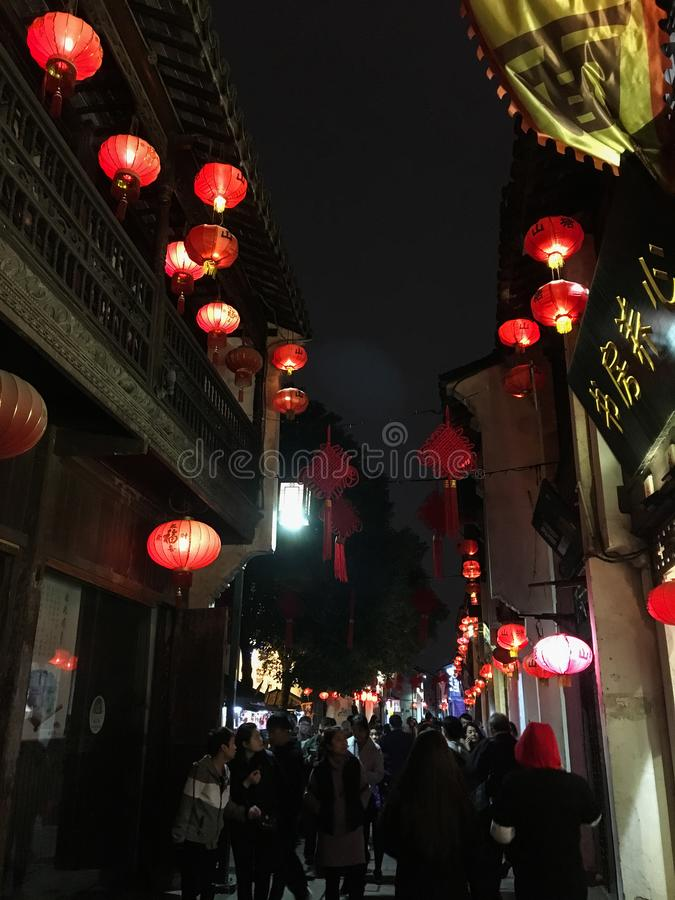Night scenery in Suzhou, east China royalty free stock photography