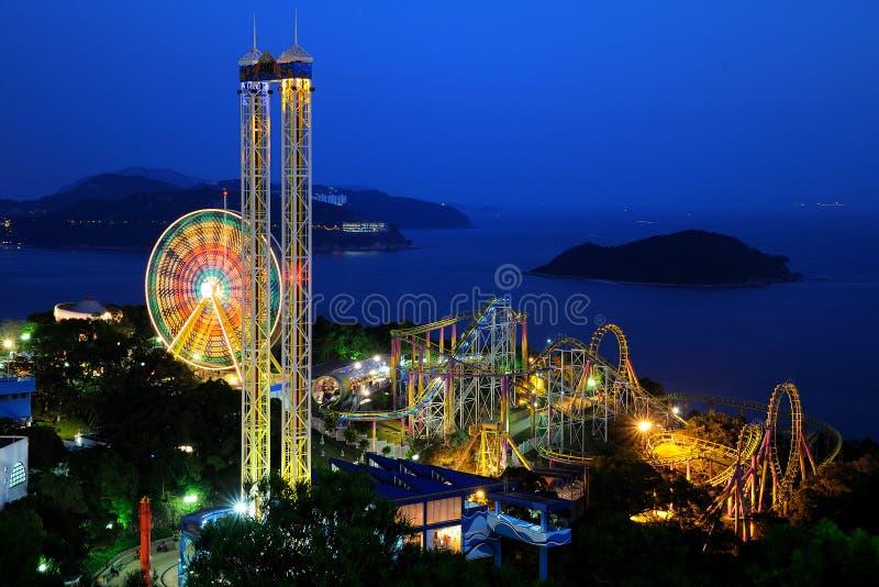 Night scenes of Ocean Park royalty free stock image