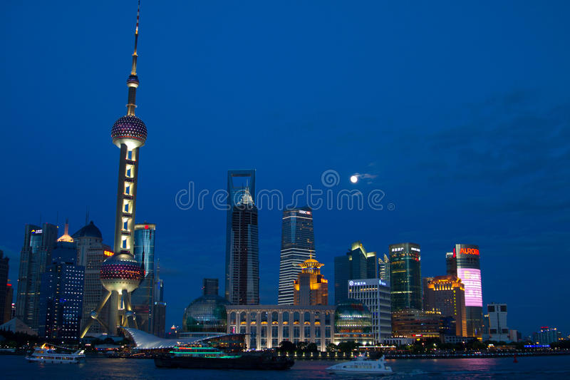 Night Scenes Of PuDong District Editorial Photography