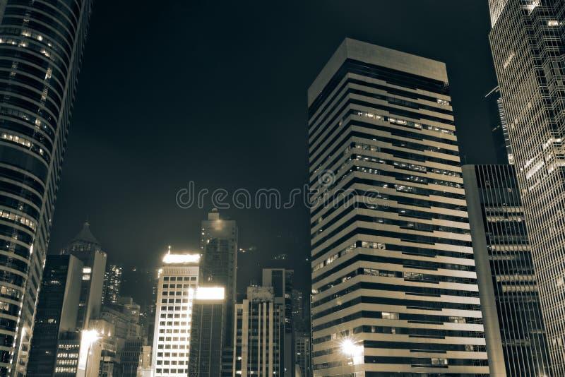 Download Night Scenes Of Skyscrapers Stock Photo - Image of hongkong, landmark: 11673456