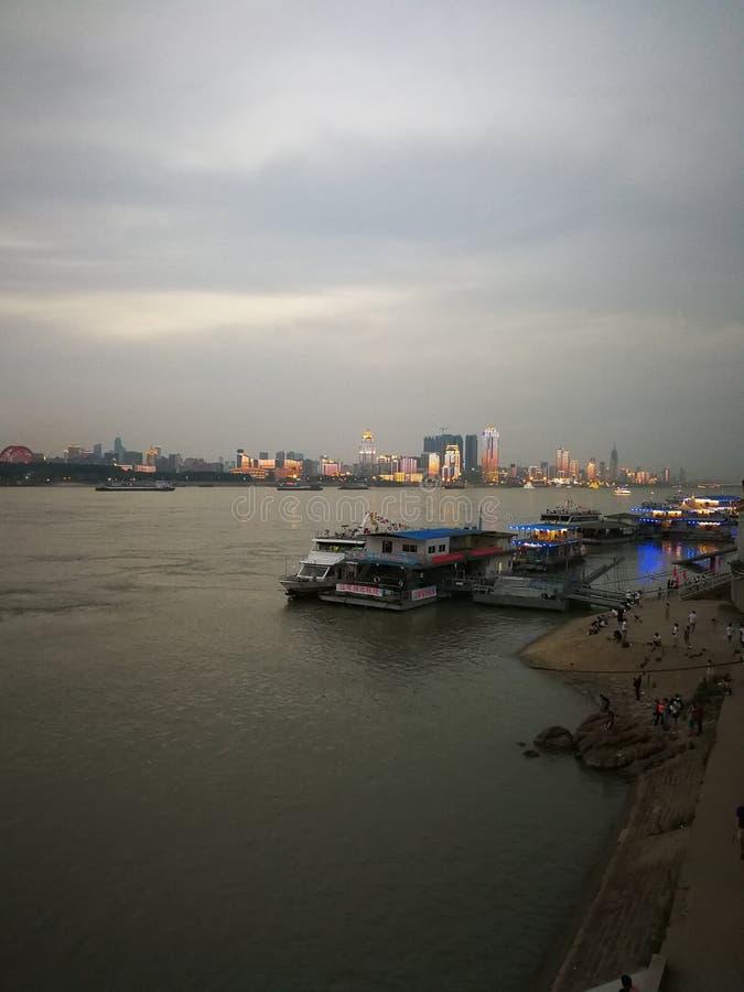 Night scenes of the Yangtze river changjiang stock images