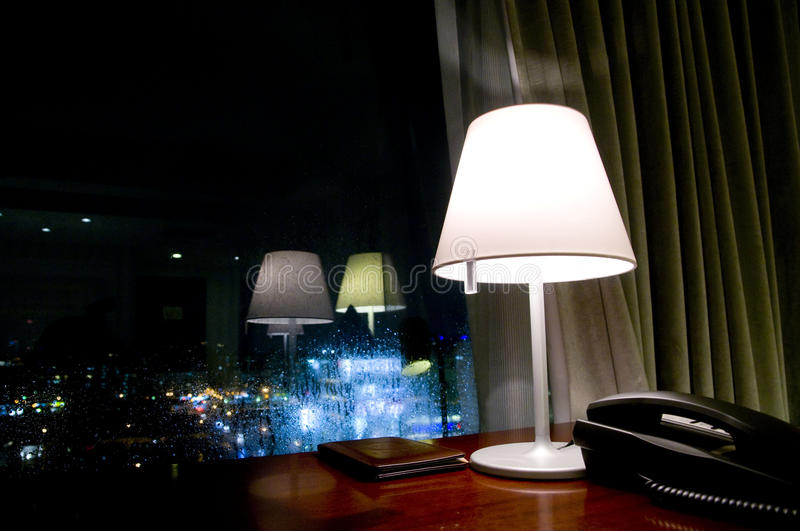 The night scense. In rainning day royalty free stock photo