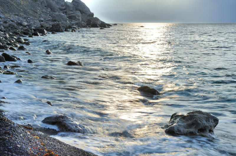 Download The night sea stock image. Image of pebble, nature, remote - 13073155