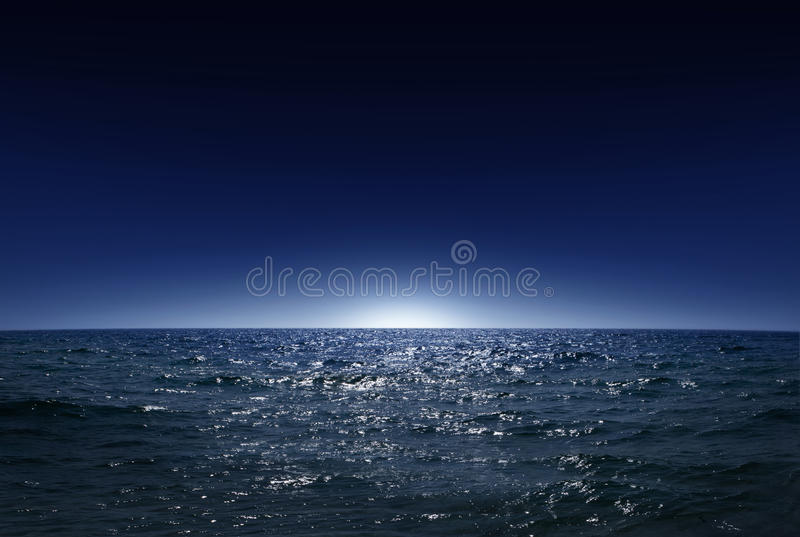 Night sea 1. Night sea, the ocean as a natural background royalty free stock images