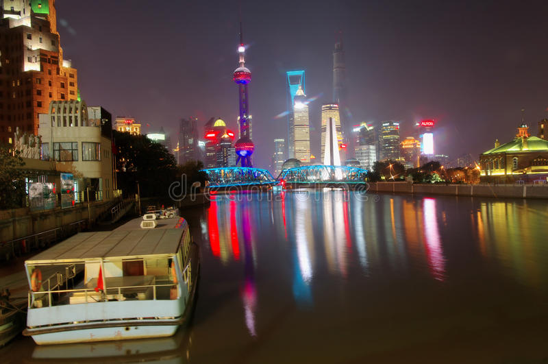 Night shanghai, stock photo