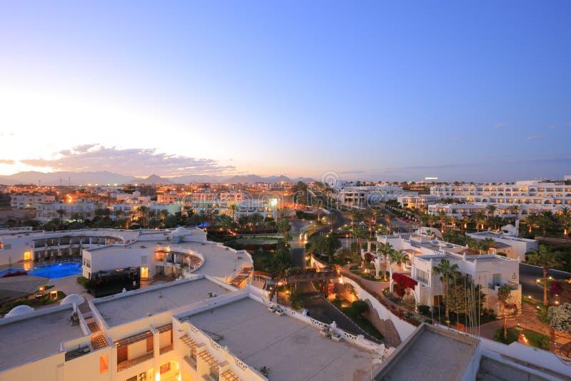 Night in Sharm el Sheikh. Resort royalty free stock photos