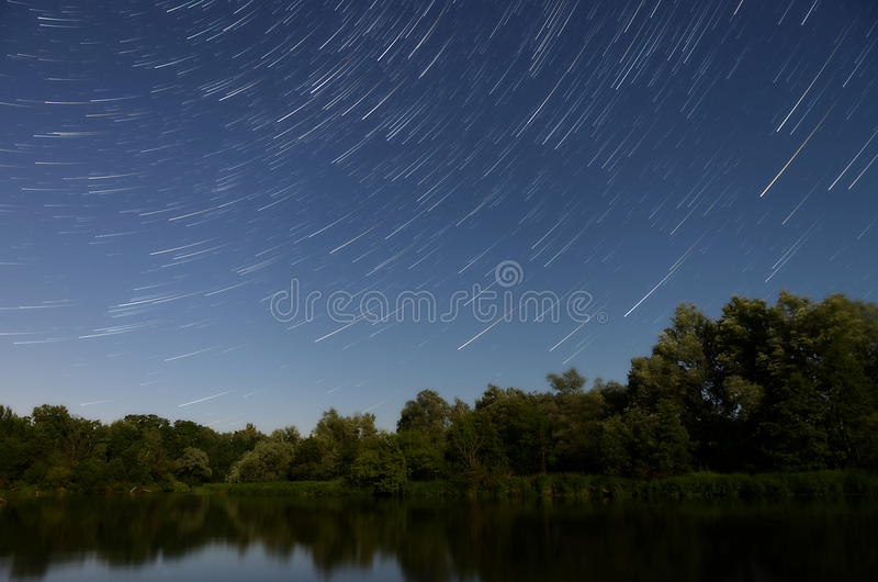 Night shooting stars royalty free stock images