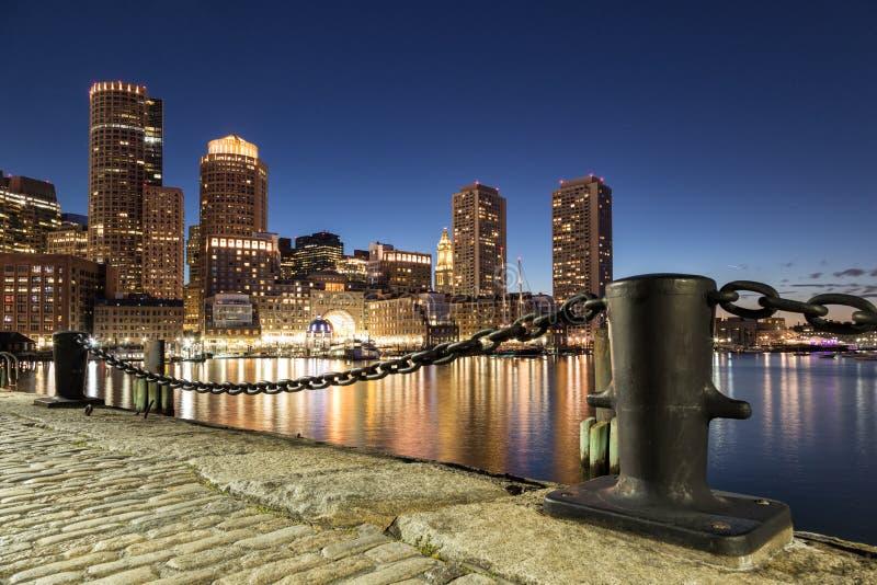 Night Shot of Boston. A night scene of Boston City stock photography