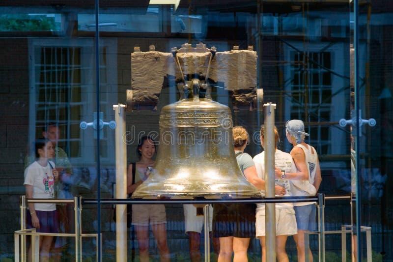 Night shot of Liberty Bell stock photo