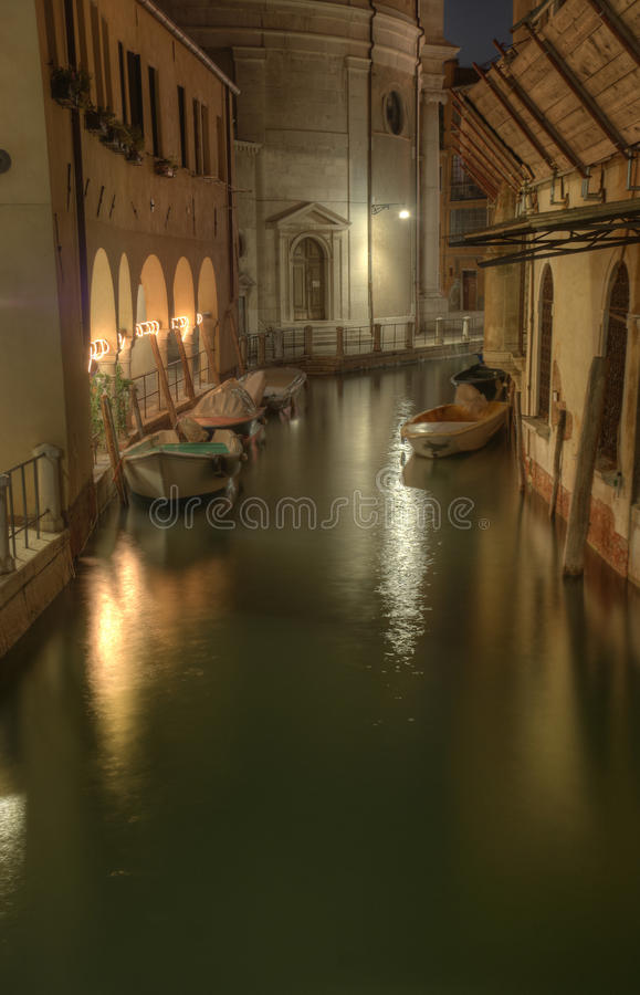 Night Shot of Venice stock photography
