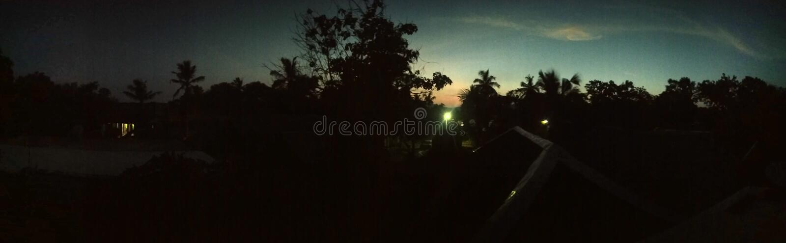 Night shot in village india looks perfect. Night shot in village india looks royalty free stock photography
