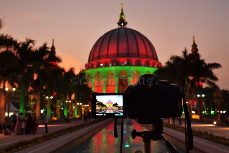 Night Shot, The world`s largest dome at Maharashtra Institute of Technology, MIT, Loni Kalbhor, Pune royalty free stock photo